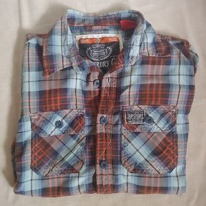 SuperDry Men's Wild Plaid Button Up Long Sleeve